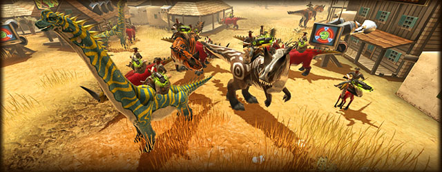 At the GamesCom in cologne game-industry partners and journalists had the chance to  have a first look at the sci-fi western adventure Dino Storm and saddle on one of the dinosaurs. Now we release the first trailer...