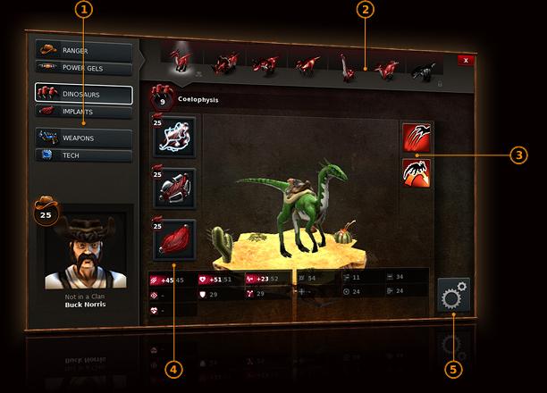 Dino Storm – Profile dinozaura & broni