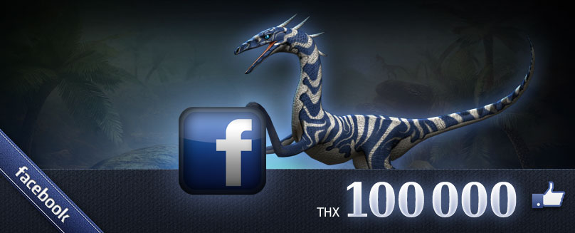 The Dino Storm page on Facebook now shows the simply incredible number of 100,000 Likes. We would like to thank you all for your support with a new free dinosaur skin art! Celebrate 100,000 Likes on […]