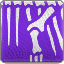 Skeleton Dinosaur Skin Art (purple)