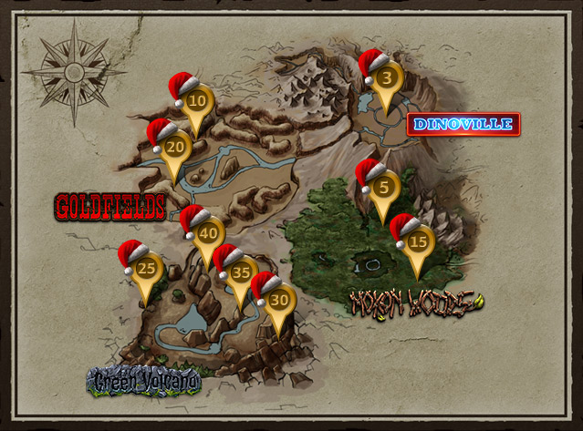 Christmas in Dinoville – World Map