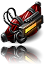 Rage implant for dinosaurs